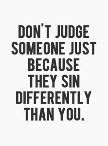 judge someone sin